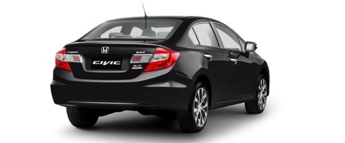 Civic Rear angle view
